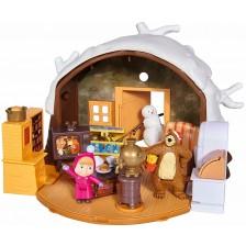 Комплект за игра Simba Toys Маша и мечока - Зимна къща на мечока -1