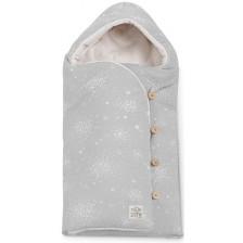 JANE Mims Plus Универсален чувал - одеяло за кош Greyland -1