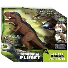 Електронна играчка Dinosaur Planet - Динозавър, със светлини, звуци и пушек -1