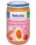 Ястие Bebivita - Макарони с домати и тиква, 250 g - 1t
