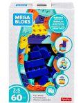 Строителни блокчета Fisher Price Mega Bloks - 60 части - 1t