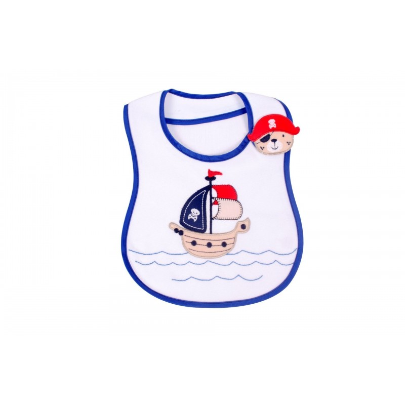 Sevi Baby Лигавник със странично закопчаване Мече Пират